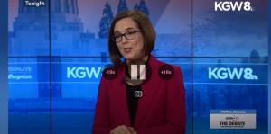 Gov. Kate Brown debating