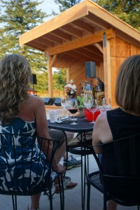 A recently-constructed stage (a.k.a Jake's doghouse) provided ideal acoustics to project the sometimes flamenco, sometimes bluesy sounds of the inaugural Guitar Summit at Moulton Falls Winery. Viki Eierdam
