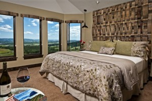 The Jura Suite at Youngberg Hill epitomizes a romantic retreat with expansive vineyard views. Courtesy of Youngberg Hill