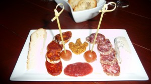 meat and cheese plate at WineUp on Williams