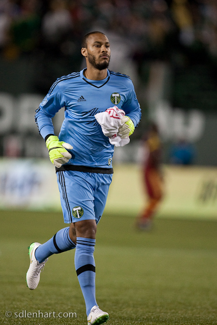 Adam Kwarasey is all business as Timbers take on Real Salt Lake as MLS 2015 kicks off in Portland's Providence Park.