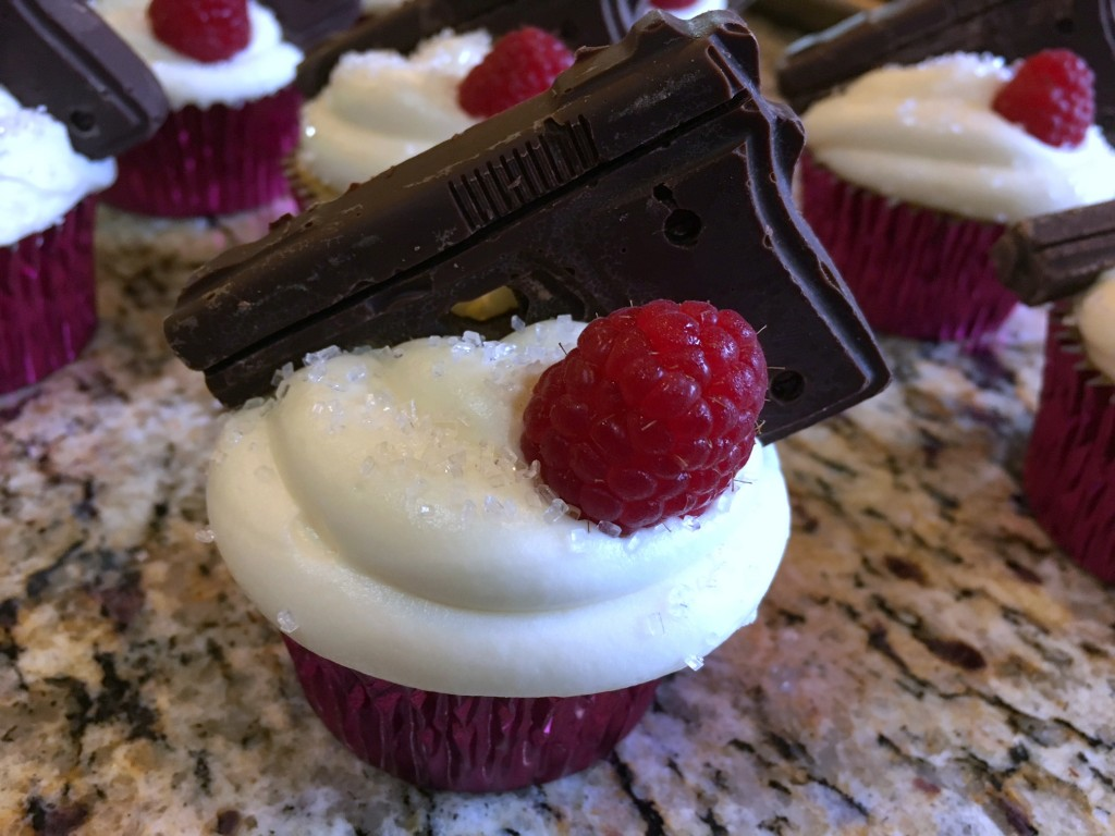 White Chocolate Raspberry Cupcakes with White Chocolate Cream Cheese Frosting